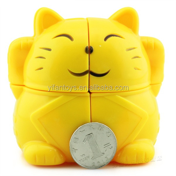 Hot selling YJ8111 Yongjun Lovely Fortune Cat 2X2 Magic Cubes Cartoon Toy for sale