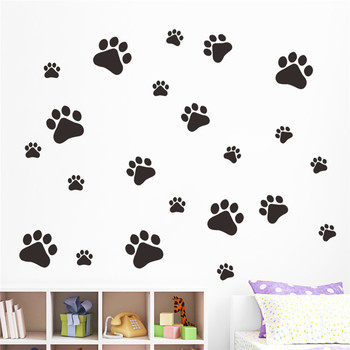 dog cat paw print wall stickers - buy multicolor dog cat paw print