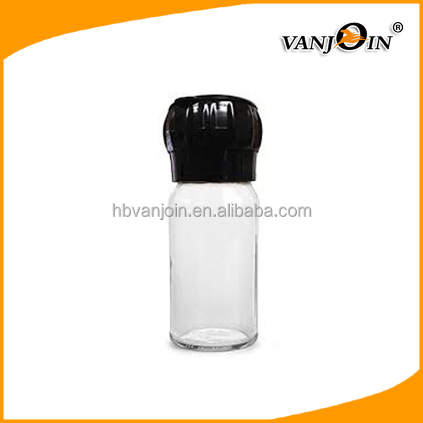 100ml Transparent Airtight Seal Type Spice Bottles Plastic With Sifting Cap,3oz Salt Shaker
