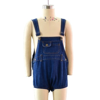 24e469f6bde Wholesale baby girl jeans triangle romper denim Overalls Casual Denim Short  Pants