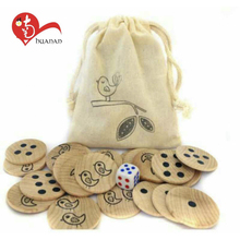OEM Wholesale unfinished small wooden crafts lucky decoration toy
