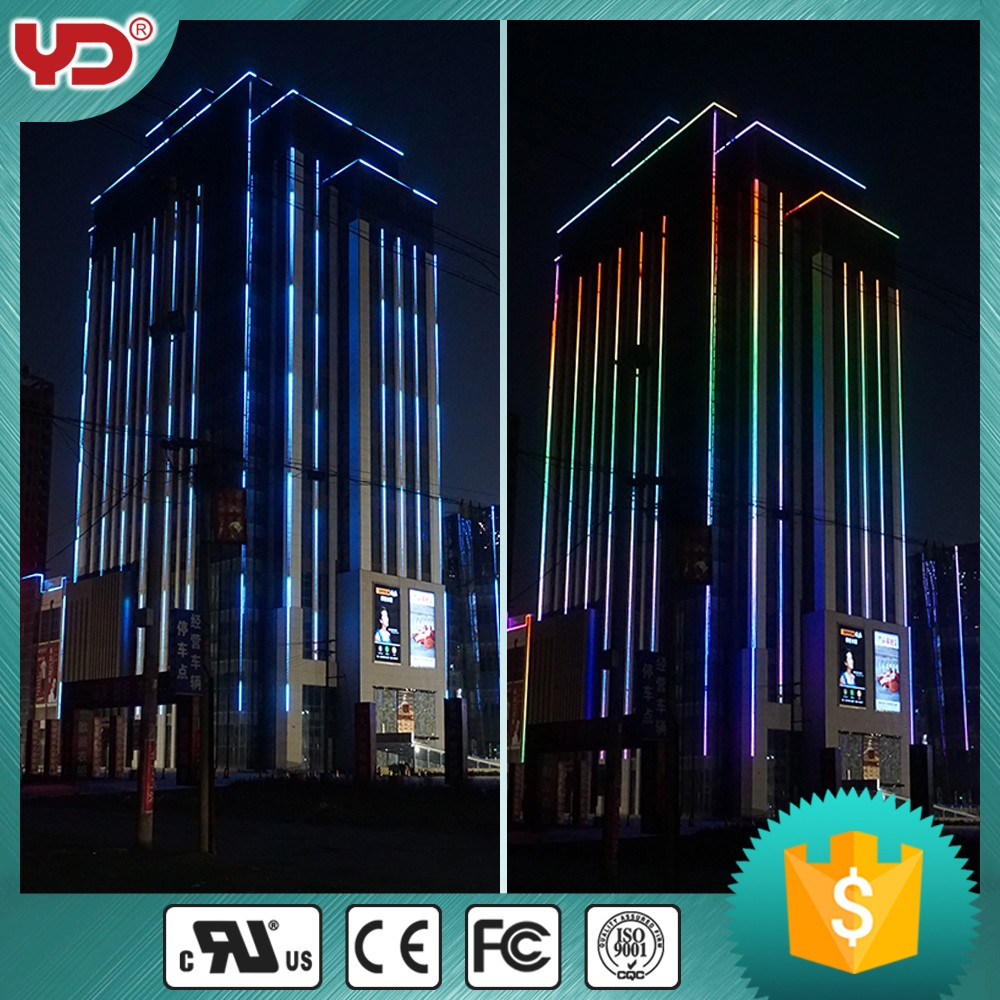 high quality led building linear light DMX512 full color waterproof IP68