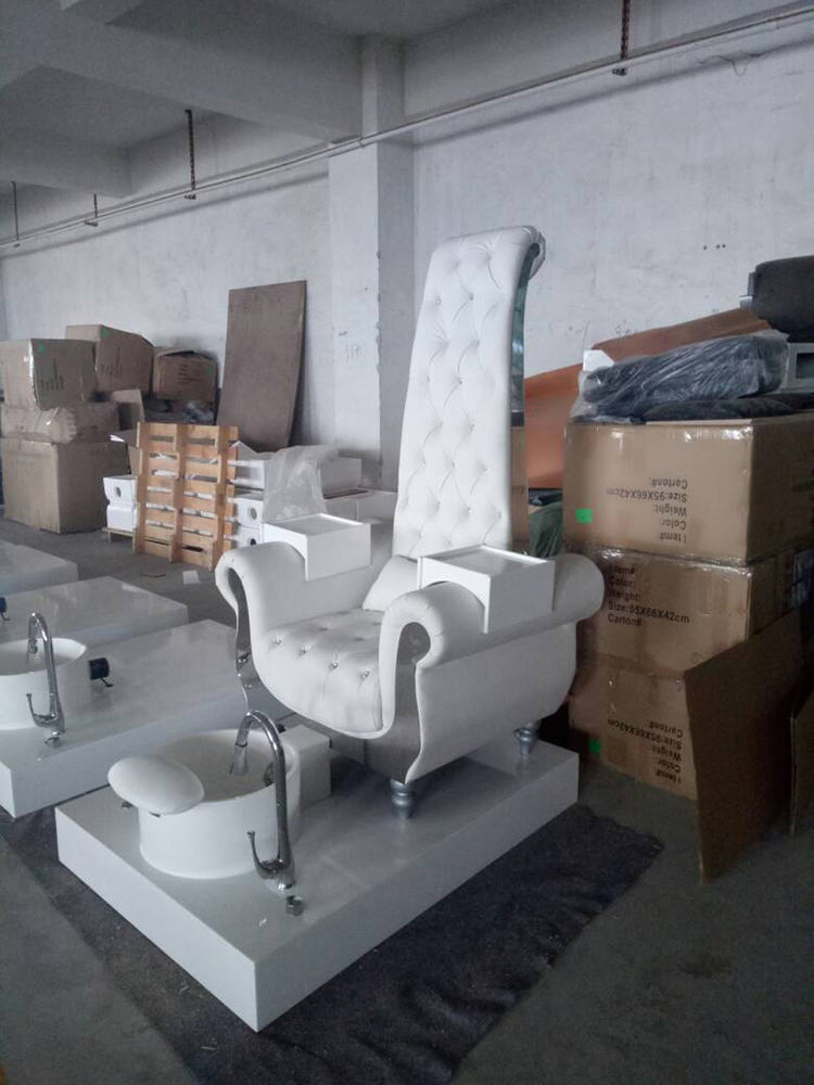 Pedicure chair set chair with sink, stand base and massage part