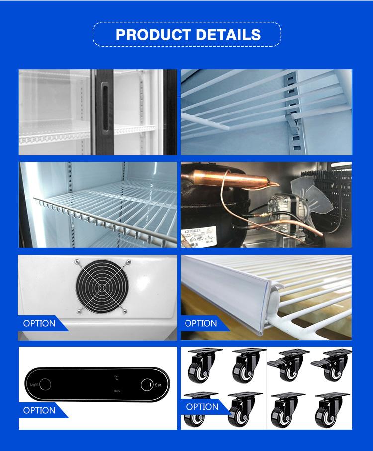 Sottile di raffreddamento/porta di Vetro del frigorifero/in posizione verticale vetrina chiller