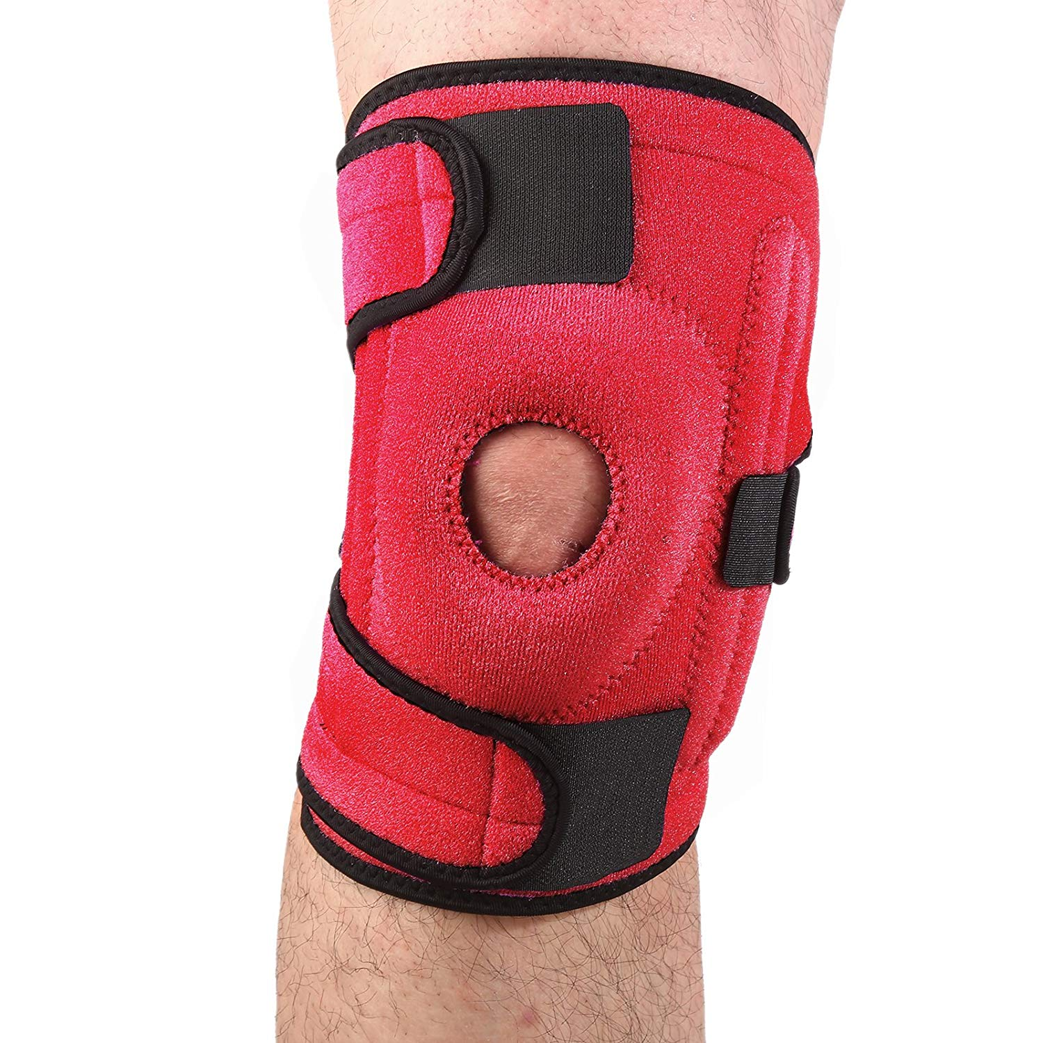3dc9b53699 Get Quotations · RUNJOY Neoprene Patella Knee Brace Support for Men &  Women, Patella Knee Stabilizer Protector for