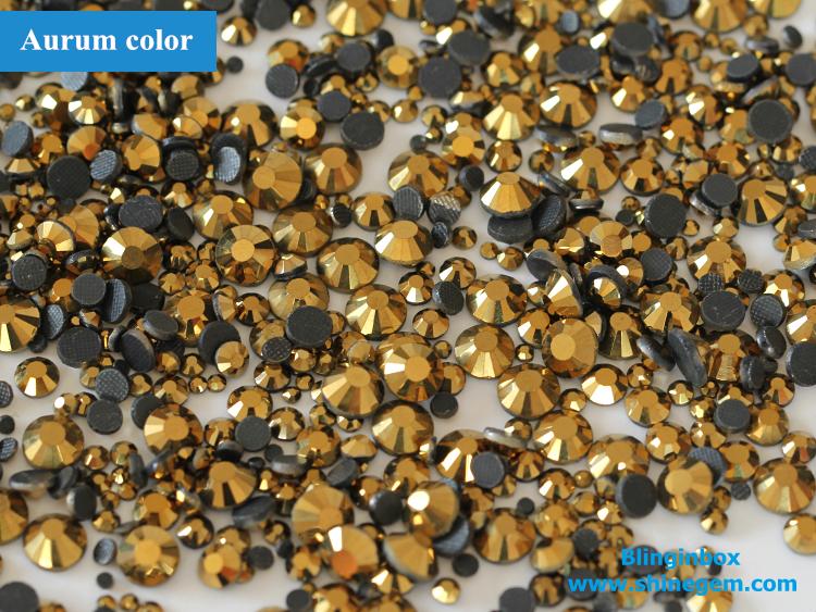 Factory wholesale various AB colors hot fix dmc machine cut glass stones for rhinestone motif