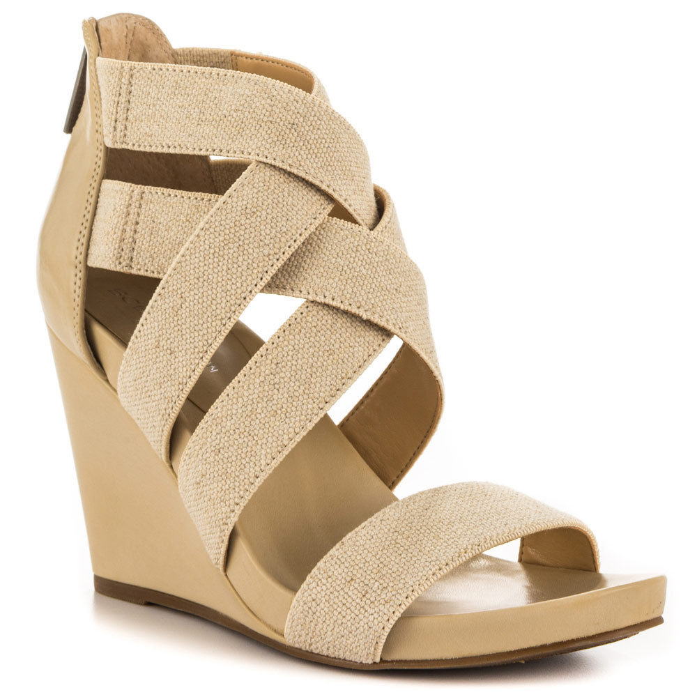Nude Back Zip Women Sandal Wedges Summer Style Shoes Women Platform Wedges Sandals Open Toe Sandal Ankle High Made-to-order