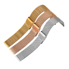 Yellow gold good quality stainless steel watch band strap