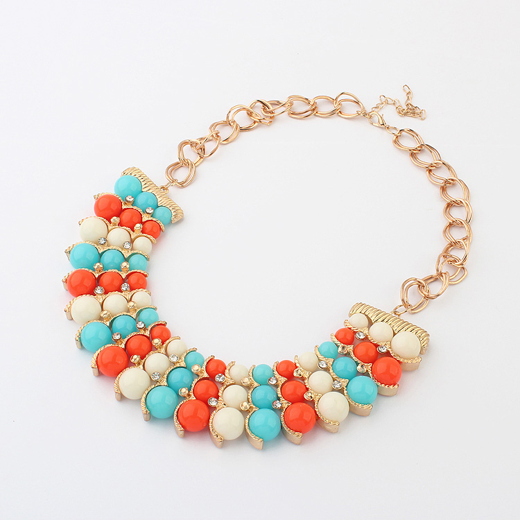 2015 New Fashion European and American Style Vintage Bohemia Spring Color Necklace Wholesale