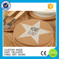 Fashionable cork/rubber table mats coasters factory
