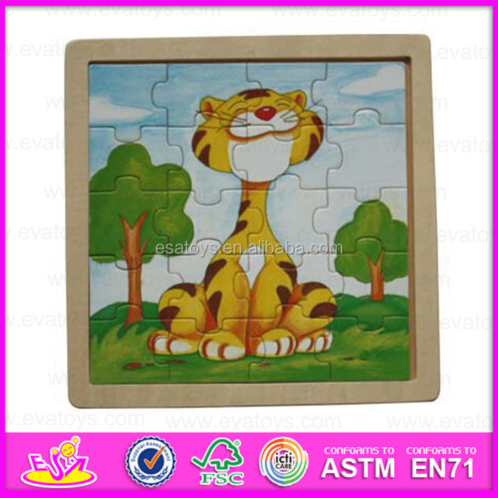 2015 Hot promotional wooden jigsaw puzzle for kid,Lovely children wooden toy magic puzzle,Educational wooden puzzle toy WJ278208