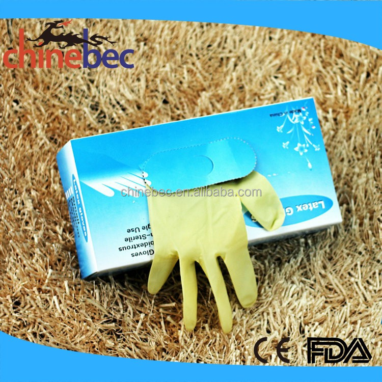 Non Sterile Disposable Latex Examination Surgical Gloves