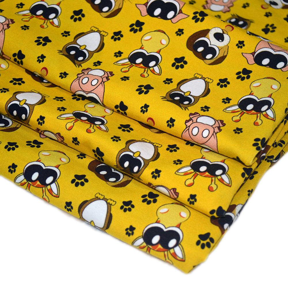 DEC Wholesale Custom Digital Printing Stretch Cotton Fabric Textile For Baby Cloth