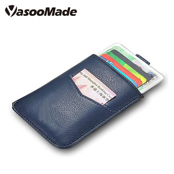 5fd02f2e051132 Slim rfid blocking genuine leather Card Holder 10 Cards magnetic money clip  wallet for Men Women