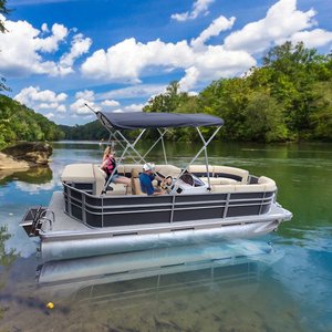 Kinocean 19FT Aluminum Pontoon Boat with Furniture from Manufacturer for  Sale