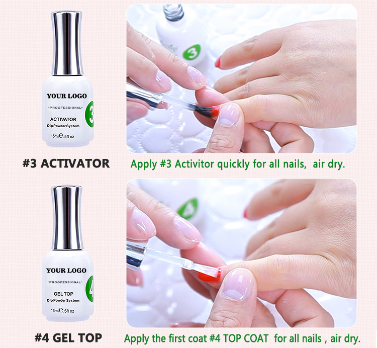Custom Made Nail Glue For Dipping Powder System,Gel Base/gel Top ...
