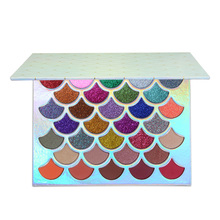 Private Label Cosmetica Nieuwe Shimmer Oranje Matte Lovertjes Vis Eyeshadow Palette <span class=keywords><strong>Roze</strong></span> 32 Kleuren <span class=keywords><strong>Make-Up</strong></span> Leverancier Lage MOQ