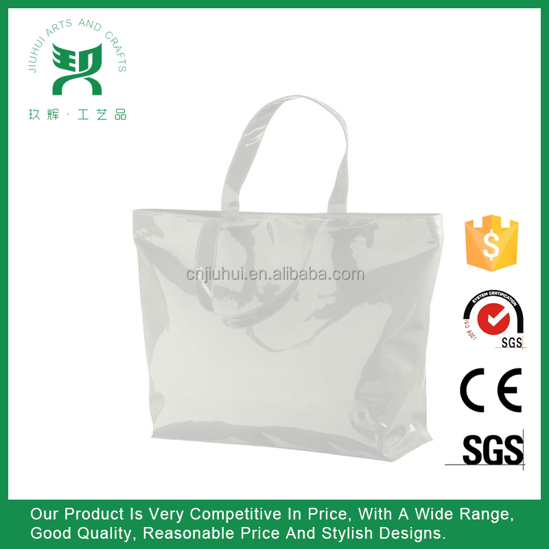 Woman PVC Clear Tote Shoulder Hand Bag