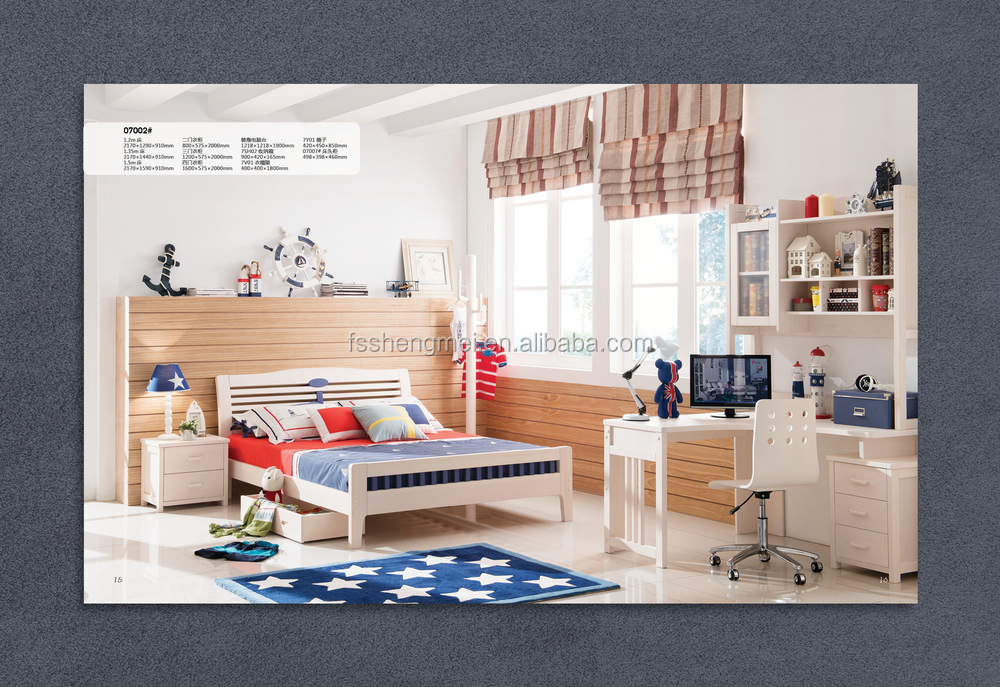 Kids Play Room Muebles Madera De Pino Natural Dormitorio Simple ...