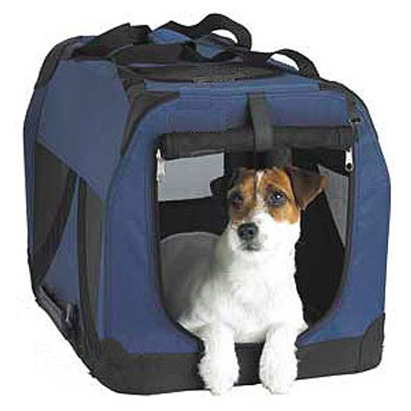 Dark Blue Pet Soft Crate