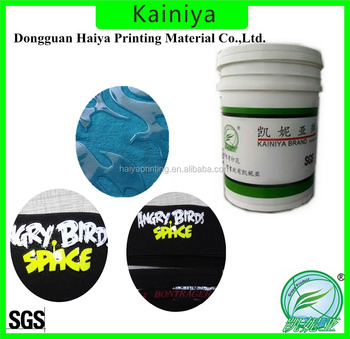 textile screen chemical clear printing paste resin