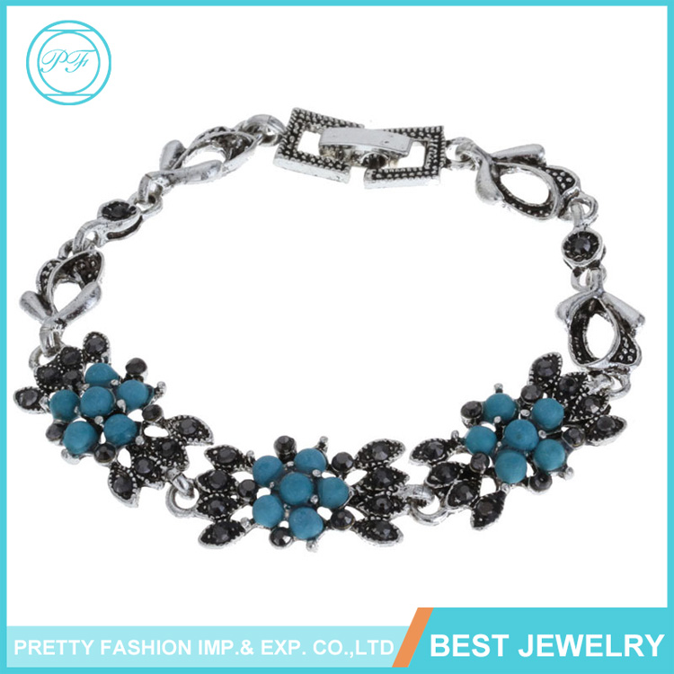 BRS-1074 Wholesale Pretty Fashion Jewelry Turquoise Bracelet & Bangles For Women