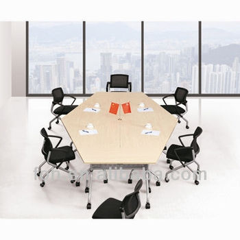 Small Office Hexagon Folding Conference Table (FOHLS713A 16)