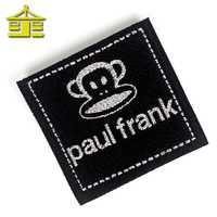 Wholesale Brand Name Clothing Label Maker Custom Design Logo Cheap Textile Famous Woven Clothing Labels For Clothing