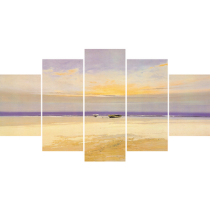 Unframed 5 pieces canvas art painting sea beach landscape painting wall pictures