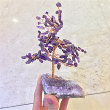 Natural Rock Amethyst Quartz Stone Crystal Tree