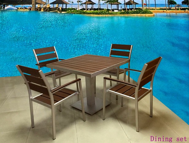 British indian Ocean Ter-ritory Outdoor garden used Colorful beach dining table and chair patio furniture