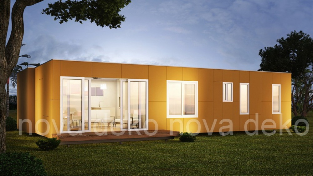 Container style houses house design plans for Modern house 80m2