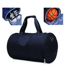 Waterproof nylon football sport gym bag with ball holder