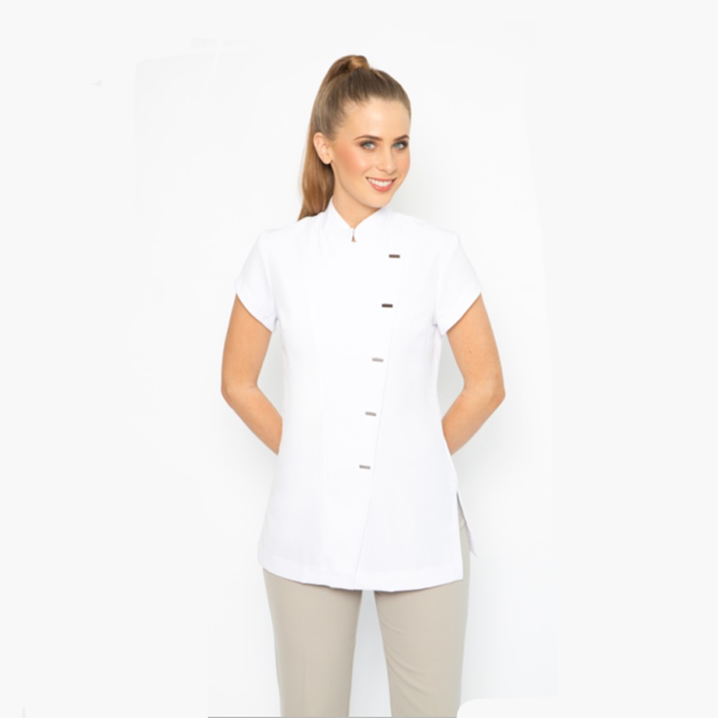 Custom wholesale spa uniforms tops for women buy for Spa uniform tops