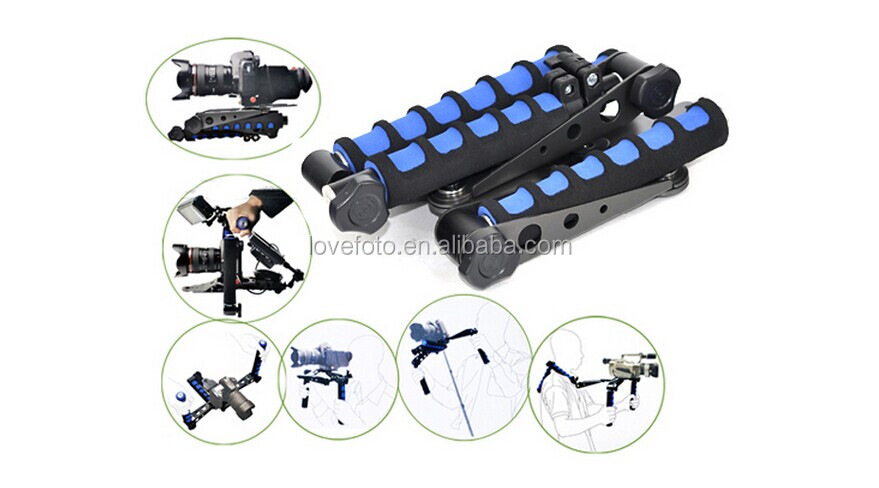 Original Movie Kit Shoulder Mount DSLR Rig for Any DV Camera Canon/Sony/Nikon/Panasonic (Blue)