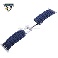 Wolesale Handmade 7 Strand 550 Paracord Loop replacement Bracelet Strap Band with Adapter Clasp for Apple Watch