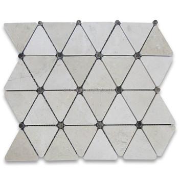 Premium Grade Spanish Marble Crema Marfil Polished Inch - 3 inch square ceramic tiles