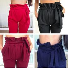 B33313A Fashion Women Sexy Candy Color Pencil Trousers Fittness Lady pants