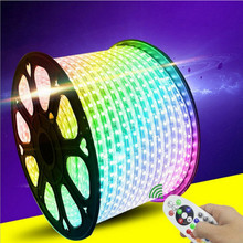60 Led/m 110 V/220 V SMD 5050 ชิป led strip multicolor RGB led strip