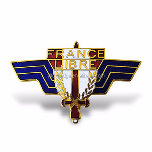 factory direct sale custom label wings metal pin logo badge