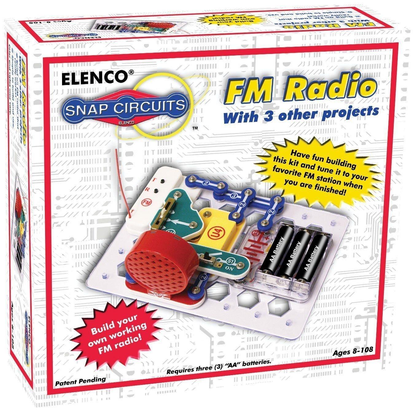 (USA Warehouse) ELENCO Snap Circuits SCP-02 FM Radio Kit Ages 8+ VERY POPULARITEM#NO: 43E8E-UFE6 C2A17226