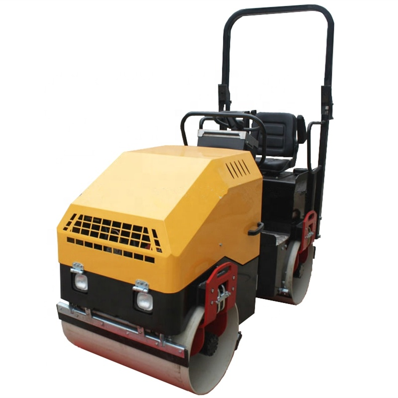 1 Ton baby bomag double drum roller compactor machine