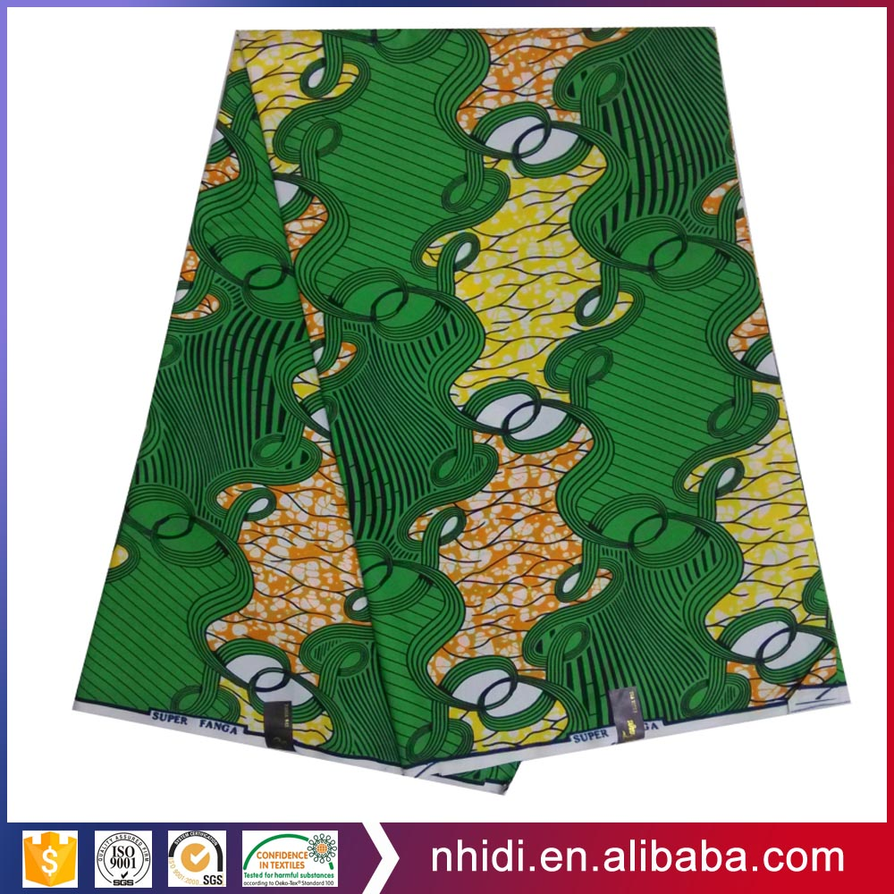 100% cotton printed kitenge super african hollandais 6 yards veritable wax fabric wholesale