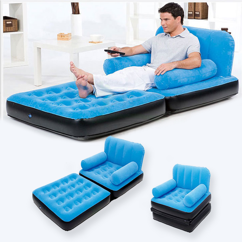 Inflatable Pull Out Sofa Couch & Full Single Air Bed