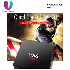 V88 Android 6.0 TV Box RK3229 1G+8G 4 USB 4K x 2K 60fps KD 16.1 WiFi DLNA Media Player European IPTV SET TOP BOX
