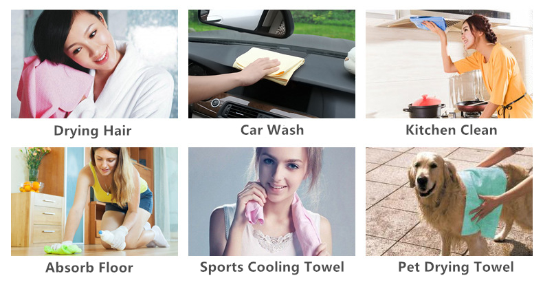 Auto Clean Care Sheepskin Leather Chamois Towel Cloth To Dry Shammies Towels Drying Cloth For Cars