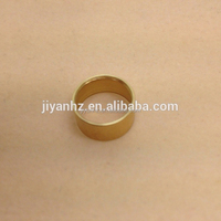 Tiny metal parts brass rings flat washers produce by cnc automatic lathe machine