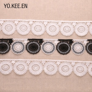 Knitted Crochet Cotton Guipure Lace Trimming Floral Lace Trim for Clothing