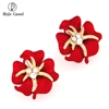 Hot Selling Zinc Alloy Earrings For Women Flower Crystal Stud Earrings