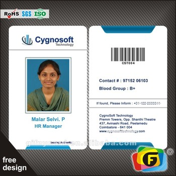 Id Card Double Side Customized Cmyk Business